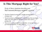 is this mortgage right for you