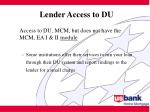lender access to du22
