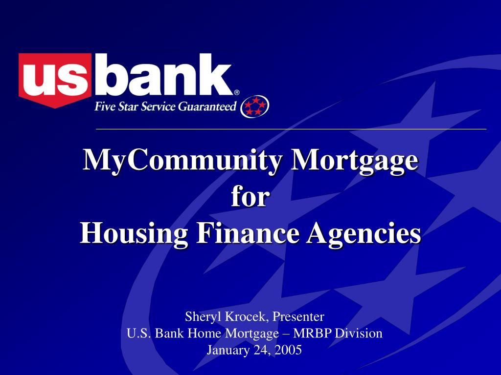 mycommunity mortgage for housing finance agencies l.