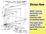 ekman flow