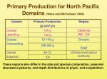 primary production for north pacific domains ware and mcfarlane 1989