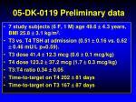 05 dk 0119 preliminary data