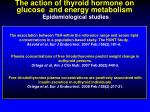 the action of thyroid hormone on glucose and energy metabolism epidemiological studies