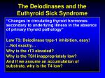 the deiodinases and the euthyroid sick syndrome