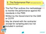 5 the performance plan old quality assurance surveillance plan qasp