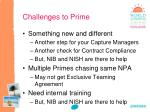 challenges to prime
