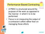 performance based contracting