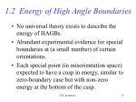 1 2 energy of high angle boundaries