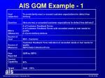 ais gqm example 1