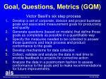 goal questions metrics gqm