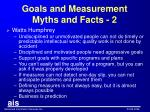 goals and measurement myths and facts 2