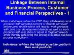 linkage between internal business process customer and financial perspectives 1