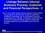 linkage between internal business process customer and financial perspectives 2