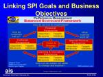 linking spi goals and business objectives