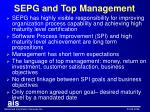 sepg and top management