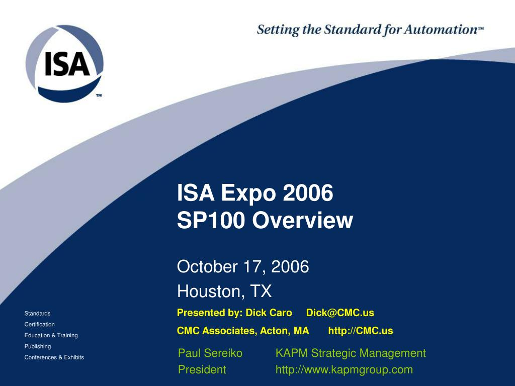 isa expo 2006 sp100 overview l.