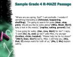 sample grade 4 r maze passage