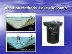 aeration methods lake life pump