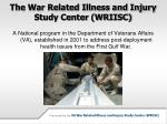 the war related illness and injury study center wriisc4
