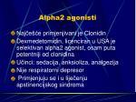 alpha2 agonisti