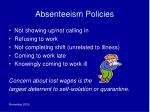 absenteeism policies