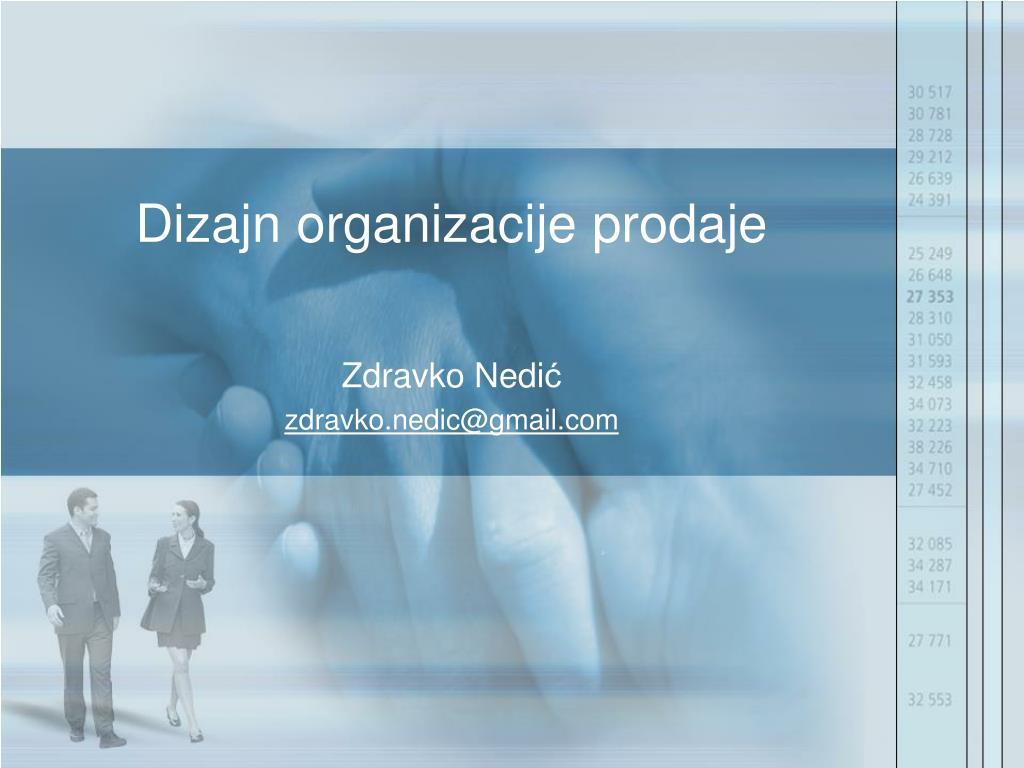 dizajn organizacije prodaje l.