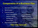 components of a business plan45
