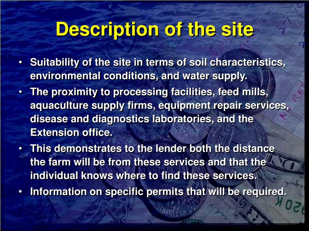 Description of the site