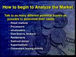 how to begin to analyze the market28