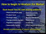 how to begin to analyze the market29
