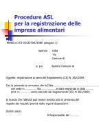 procedure asl per la registrazione delle imprese alimentari