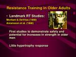 resistance training in older adults