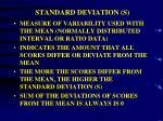 standard deviation s