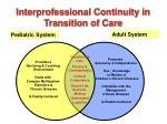 interprofessional continuity in transition of care40