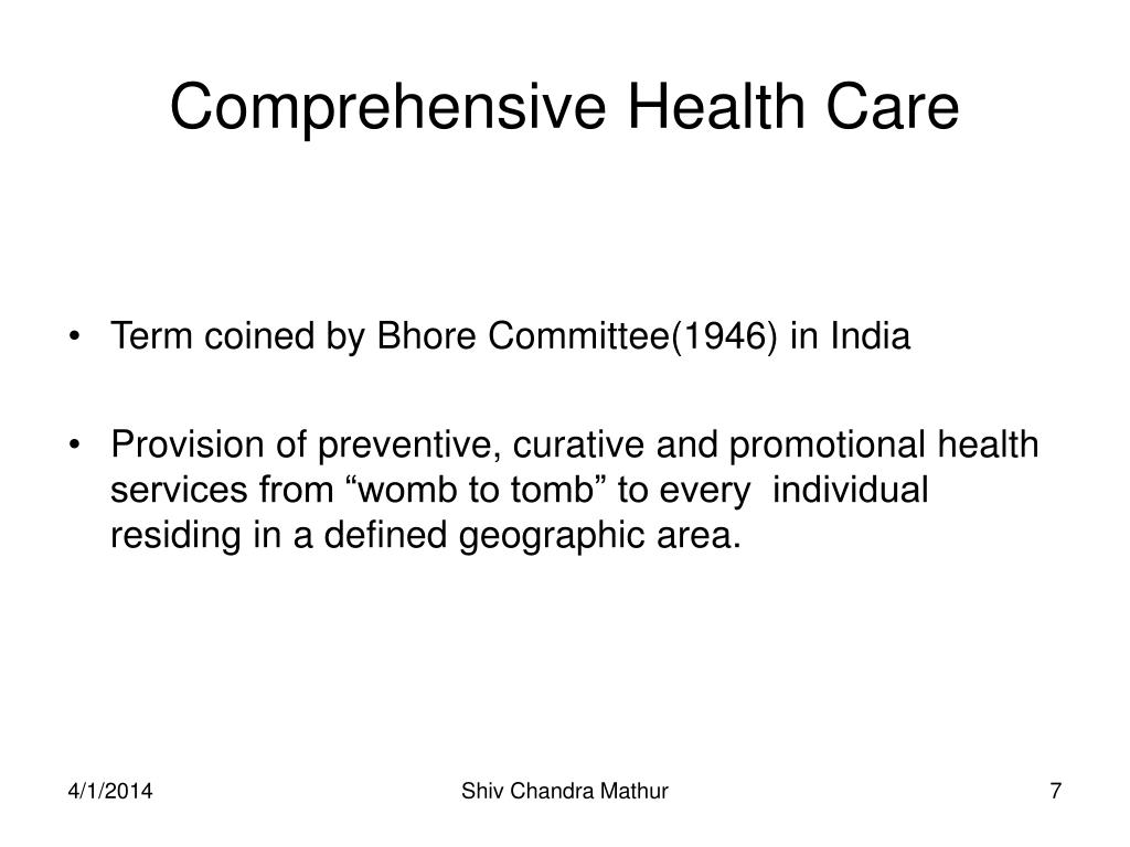 Comprehensive Health Care