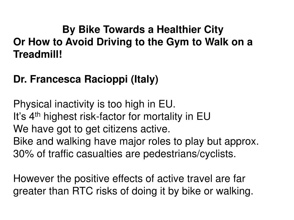 By Bike Towards a Healthier City