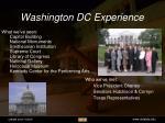 washington dc experience