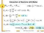 interaction of neutrons with matter