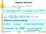 magnetic diffraction