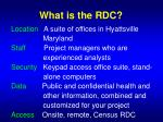 what is the rdc