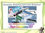 breaches breaches and more breaches