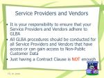 service providers and vendors