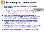 bpch program current status43