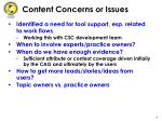 content concerns or issues
