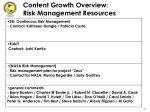 content growth overview risk management resources