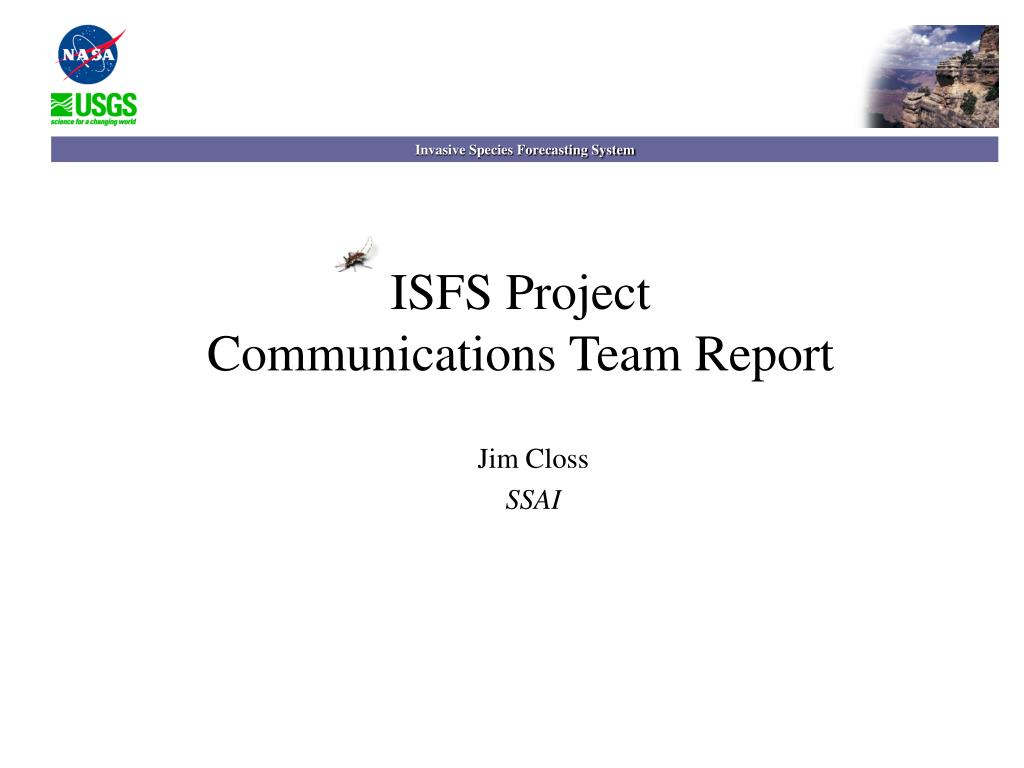 isfs project communications team report l.