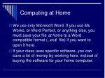 computing at home