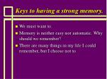 keys to having a strong memory94