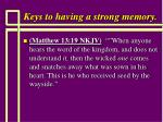 keys to having a strong memory97