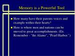 memory is a powerful tool14